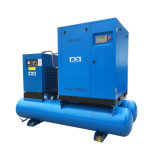 7.5kw 11kw 15kw Electric Rotary Screw Type Air Compressor mit Air Dryer