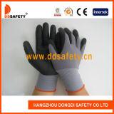 Dello Spandex e del nylon del nitrile guanto nero Dnn151 di sicurezza della gomma piuma ultra