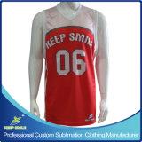 顧客用完全な昇華優れたバスケットボールの単一層可逆ベスト