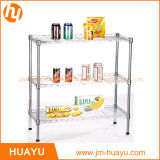 60L X 45W x 70h 3 Tiers Wire Steel Shelving Adjustable Rack Shelf Storage avec le Lourd-rendement
