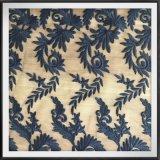Вышитый листьями шнурок вышивки сетки шнурка с шнурком вышивки Tulle листьев