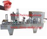 Kunststoffgehäuse-materielle Dichtungs-Cup-Füllmaschine