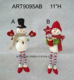 """"""" decorazione fornita di gambe Gift-2asst. del pupazzo di neve della sfera del filato del tasto di H 11"""