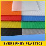 Feuille ondulée matérielle de plastiques de Coroplast pp Correx