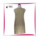 Delantal de cocinar 100% de la cocina de las mujeres teñidas de la impresión del hilo de algodón