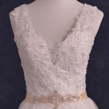 Real Photos Lace Beads Tulle A-Line Wedding Dresses (TM-AL134)