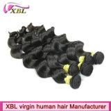 Cheveux péruviens de vague lâche de Hotsale prolongements de cheveux de 22 pouces
