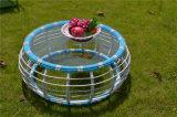 Mobilia francese del giardino del patio del rattan di stile con il carrello