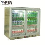 refrigerador dobro da cerveja da barra da parte traseira de porta da dobradiça 210L