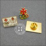 동전 연약한 사기질 접어젖힌 옷깃 Pin 우표 로고 기장 (GZHY-SE-001)