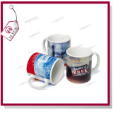 11oz Sublimation Reinforce Porcelain White Mug com Company Logo