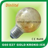 25W 40W 60WのKroko氷の金の白熱球根