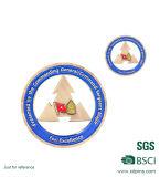 昇進(XDDT-001)のための卸し売り彫版のロゴの円形の金属Bagde