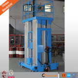 Hydraulische Luftarbeit-Aluminiumplattform mit Vierrad