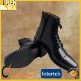 Neues Form-echtes Kuh-Leder-preiswertes Militär bereift Vorgesetzt-Schuhe