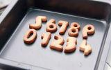 Biscotto dell'acciaio inossidabile di Bakeware 0-9/taglierina Numero-A forma di del biscotto (impostare di 9)