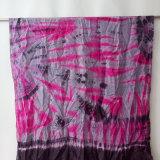 Damen arbeiten elegantes Silk Binden-Färben Schals um