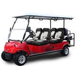 Carrello di golf di impianto elettrico del comitato solare 4+2seat Del3042D2z blu