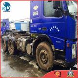 8*4-LHD/4_Passengers Ursprünglich-Roter/blauer 30~40ton verwendeter Traktor-Schlussteil-LKW Volvo-FM12 380~450HP