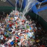 Escamas plásticas del desecho de la botella del animal doméstico que reciclan la lavadora