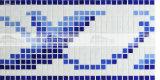 15X15mm 녹는 유리제 파란 혼합 디자인 패턴 국경 모자이크 (BGAB003)