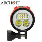 Lampe imperméable à l'eau de torche de plongée de la lampe-torche 50W DEL