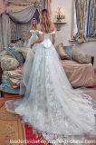 Серебряные Bridal мантии с платья венчания H891 акцента цвета шнурка плеча изготовленный на заказ