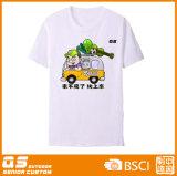 T-shirt blanc de sport de la mode des hommes