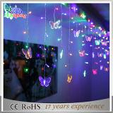 Luzes ao ar livre coloridas da corda da fantasia do Natal do diodo emissor de luz da decoração