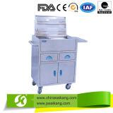 Carretilla anestésica del tratamiento del acero inoxidable (CE/FDA/ISO)