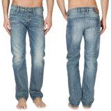 Mann-Denim-nimmt gerade Bein-Arbeits-Jeans-Hosen-Hose Jeans ab