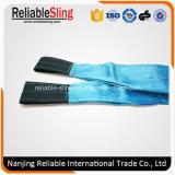 Tipo cinta de levantamento da correia do poliéster da dobra do dobro do ISO do Ce En1492-1 com olhos reforçados