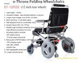 E-Trono! Cadeira de rodas inovativa do motor dourado! De pouco peso! 1 cadeira de rodas elétrica da segundo potência sem escova Foldable, o melhor no mundo