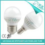 lámpara E14/E27 del globo de 5W 7W G45 LED aprobada
