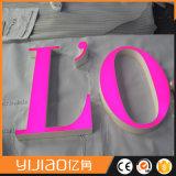 Letras tomadas o partido dobro acrílicas especiais do diodo emissor de luz