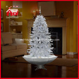 natale Decoration di 2.1m White Snowing Christmas Tree con Music LED