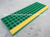 Reja de la escalera Treads/FRP/reja/Anti-ULTRAVIOLETA moldeado/Anti-Deslizadizo/ácido y álcali resistentes