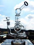 De Dubble do reciclador tubulação 2016 de fumo de vidro