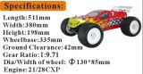 2.4G Radio ControlのHsp 1/8th Scale Brushless GasオフロードRC Monster Truck