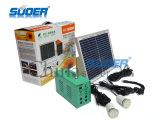 Suoer Portable 12V 7ah Accueil Utilisateur Alimentation solaire avec lumière LED (ST-A02)