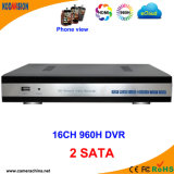 16 Channel H. 264 Standalone 960H High Definition CCTV Netwerk DVR (2SATA))