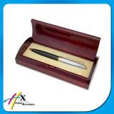Doos van de Verpakking van de Vertoning van de Pen van het Merk van de luxe de Houten met de Voering van het Suède van het Fluweel