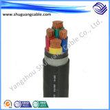 Humo bajo cero cable de la energía eléctrica de la envoltura del PE del aislamiento del halógeno XLPE