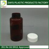 bottiglia ambrata della plastica della medicina della capsula di colore dell'animale domestico 200ml