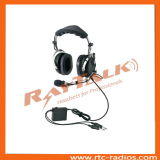 General Aviation Pilot Noise Cancelling Headphones com Metal Boom Microphone