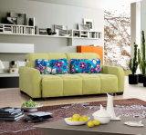 現代ファブリックによって折られるソファーベッド