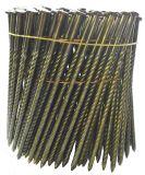 円形のヘッド3インチ。 15度ねじすね、のみポイント、4による120インチは、カートンごとの000、ワイヤーコイルの組み立ての釘を照合した