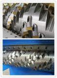Máquina de madera plástica de la desfibradora de la paleta del eje doble