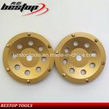 Абразивные диски чашки 7 дюймов PCD с 6PCS 1/4PCD