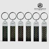 De kleurrijke Stikkende Sleutelring van de Vezel van de Koolstof van de Kwaliteit van de Juwelen van de Manier Beste Echte